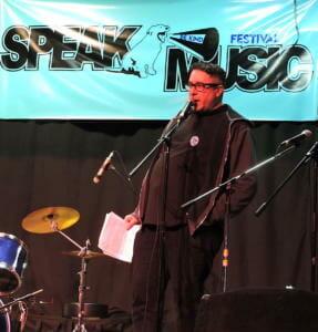 Emcee Howard Druckman of SPEAK Music, SPEAK Music Be Kind Festival, Toronto, ON