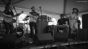 Melanie Brulee with Missy Raines & the New Hip, Philadelphia Folk Festival, 18 August 2018