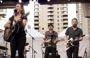 Megan Bonnell, 7 July 2018, Yonge-Dundas Square, Toronto, ON